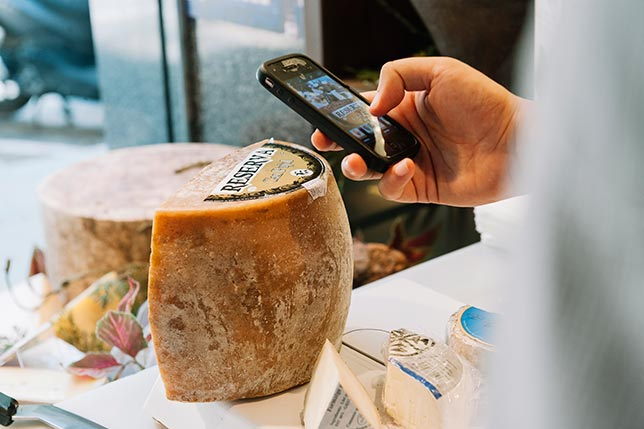 Our market tour usually includes a cheese tasting