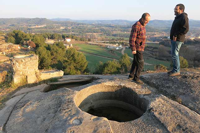 Unique Roman wine stone cubes in Catalonia