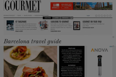 Aborígens appears on Gourmet Traveller's Barcelona travel guide