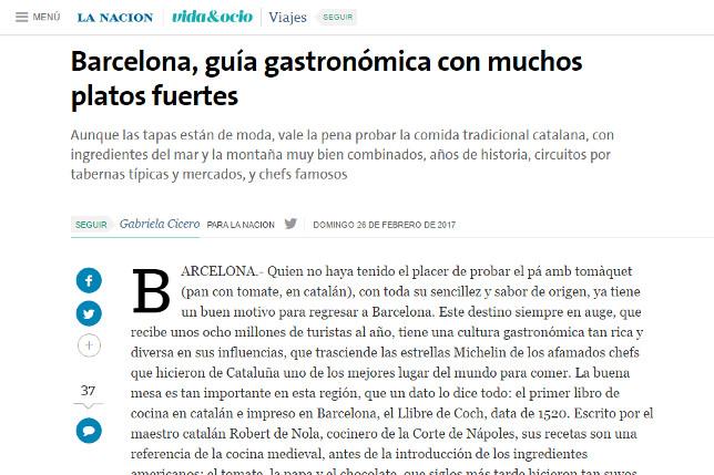 Aborígens - Local Food Insiders featured in La Nación.